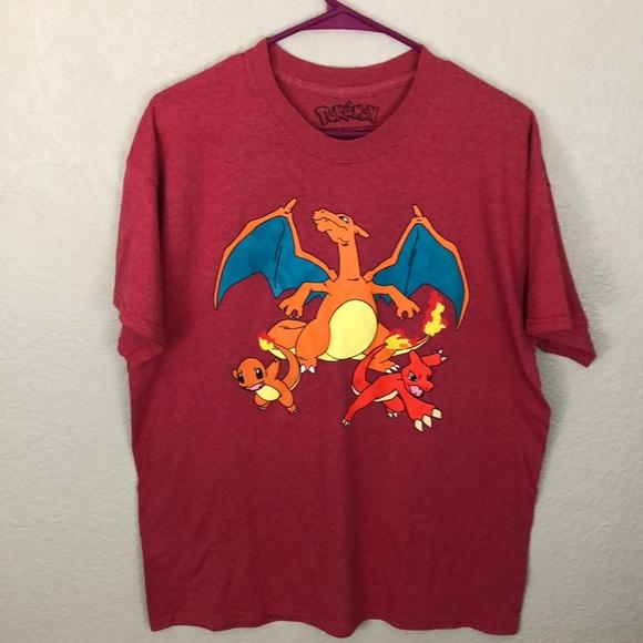 fe47a60d Shirts | Pokemon Red Mens Tshirt Charizard | Poshmark